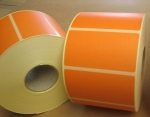 Etiquettes imprimantes INTERMEC - velin 76 MM x 40 MM ORANGE